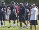 Jul 26, 2014; Houston, TX, USA; Houston Texans defensive coordinator Romeo Crennel watches during training camp at Houston Methodist Training Center. Mandatory Credit: Troy Taormina-USA TODAY Sports