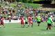 Jul 26, 2014; Atlanta, GA, USA; Fans watch Atlanta Falcons quarterback Matt Ryan (2) pass during training camp at Falcons Training Complex. Mandatory Credit: Dale Zanine-USA TODAY Sports