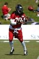 Jul 26, 2014; Atlanta, GA, USA; Atlanta Falcons running back Steven Jackson (39) catches a pass on the field during training camp at Falcons Training Complex. Mandatory Credit: Dale Zanine-USA TODAY Sports