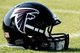 Jul 26, 2014; Atlanta, GA, USA; An Atlanta Falcons helmet on the field during training camp at Falcons Training Complex. Mandatory Credit: Dale Zanine-USA TODAY Sports