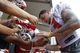 Jul 28, 2014; Tampa, FL, USA; Tampa Bay Buccaneers wide receiver Mike Evans (13) signs autographs after training camp at One Buc Place. Mandatory Credit: Kim Klement-USA TODAY Sports