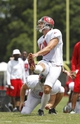 Jul 28, 2014; Tampa, FL, USA; Tampa Bay Buccaneers kicker Connor Barth (10) kicks an extra point during training camp at One Buc Place. Mandatory Credit: Kim Klement-USA TODAY Sports