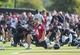 Jul 26, 2014; Houston, TX, USA; Houston Texans quarterback Ryan Fitzpatrick (14) stretches during training camp at Houston Methodist Training Center. Mandatory Credit: Troy Taormina-USA TODAY Sports