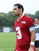 Jul 26, 2014; Philadelphia, PA, USA; Philadelphia Eagles quarterback Mark Sanchez (3) walks off the field after practice at training camp at the Novacare Complex in Philadelphia PA. Mandatory Credit: Bill Streicher-USA TODAY Sports