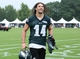 Jul 26, 2014; Philadelphia, PA, USA; Philadelphia Eagles wide receiver Riley Cooper (14) runs off the field after practice at training camp at the Novacare Complex in Philadelphia PA. Mandatory Credit: Bill Streicher-USA TODAY Sports