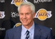 Jul 29, 2014; El Segundo, CA, USA; Los Angeles Lakers general manager Mitch Kupchak at a press conference to announce Byron Scott (not pictured) as coach at Toyota Sports Center. Mandatory Credit: Kirby Lee-USA TODAY Sports