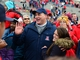 Dec. 15, 2012; Albuquerque, NM, USA; Arizona Wildcats head coach Rich Rodriguez celebrates with his daughter Raquel Rodriguez following the game against the Nevada Wolf Pack in the 2012 New Mexico Bowl at University Stadium. Mandatory Credit: Mark J. Rebilas-USA TODAY Sports
