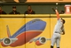 Aug 7, 2014; Milwaukee, WI, USA; San Francisco Giants right fielder Hunter Pence (8) makes a running catch on a ball hit by Milwaukee Brewers third baseman Aramis Ramirez (not pictured) in the first inning at Miller Park. Mandatory Credit: Benny Sieu-USA TODAY Sports