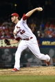 Aug 7, 2014; St. Louis, MO, USA; St. Louis Cardinals relief pitcher Kevin Siegrist (46) delivers a pitch against the Boston Red Sox  at Busch Stadium. Mandatory Credit: Jasen Vinlove-USA TODAY Sports
