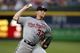 Aug 8, 2014; Atlanta, GA, USA; Washington Nationals starting pitcher Stephen Strasburg (37) throws a pitch against the Atlanta Braves in the second inning at Turner Field. Mandatory Credit: Brett Davis-USA TODAY Sports
