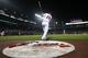 Aug 8, 2014; Atlanta, GA, USA; Atlanta Braves second baseman Ramiro Pena (14) prepares for an at bat against the Washington Nationals in the sixth inning at Turner Field. Mandatory Credit: Brett Davis-USA TODAY Sports