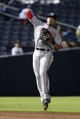 Aug 8, 2014; Atlanta, GA, USA; Washington Nationals shortstop Ian Desmond (20) throws a runner out at first against the Atlanta Braves in the sixth inning at Turner Field. Mandatory Credit: Brett Davis-USA TODAY Sports