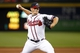 Aug 8, 2014; Atlanta, GA, USA; Atlanta Braves relief pitcher Craig Kimbrel (46) throws a pitch against the Washington Nationals in the ninth inning at Turner Field. The Braves defeated the Nationals 7-6. Mandatory Credit: Brett Davis-USA TODAY Sports