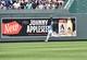 Aug 10, 2014; Kansas City, MO, USA; Kansas City Royals center fielder Jarrond Dyson (1) runs down a fly ball against the San Francisco Giants during the third inning at Kauffman Stadium. Mandatory Credit: Peter G. Aiken-USA TODAY Sports