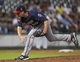 Aug 12, 2014; Houston, TX, USA; Minnesota Twins starting pitcher Trevor May (65) pitches during the sixth inning against the Houston Astros at Minute Maid Park. Mandatory Credit: Troy Taormina-USA TODAY Sports