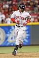 Aug 12, 2014; Cincinnati, OH, USA; Boston Red Sox left fielder Yoenis Cespedes (52) rounds second base after hitting a home run during the eighth inning against the Cincinnati Reds at Great American Ball Park. The Red Sox defeated the Reds 3-2. Mandatory Credit: Frank Victores-USA TODAY Sports