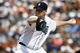 Aug 14, 2014; Detroit, MI, USA; Detroit Tigers relief pitcher Phil Coke (40) pitches in the ninth inning against the Pittsburgh Pirates at Comerica Park. Detroit won 5-2. Mandatory Credit: Rick Osentoski-USA TODAY Sports