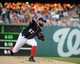 Aug 15, 2014; Washington, DC, USA; Washington Nationals starting pitcher Tanner Roark (57) throws during the first inning against the Pittsburgh Pirates at Nationals Park. Mandatory Credit: Brad Mills-USA TODAY Sports