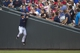 Aug 15, 2014; Minneapolis, MN, USA; Minnesota Twins right fielder Oswaldo Arcia (31) attempts to catch a foul ball in the stands during the first inning against the Kansas City Royals at Target Field. Mandatory Credit: Jesse Johnson-USA TODAY Sports