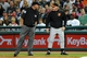 Aug 15, 2014; Cleveland, OH, USA; Baltimore Orioles manager Buck Showalter (26) argues with umpire Ron Kulpa (46) about a close call at first during the eighth inning against the Cleveland Indians at Progressive Field. Mandatory Credit: Ken Blaze-USA TODAY Sports