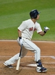 Aug 16, 2014; Cleveland, OH, USA; Cleveland Indians left fielder Michael Brantley (23) hits a two-run home run in the fifth inning against the Baltimore Orioles at Progressive Field. Mandatory Credit: David Richard-USA TODAY Sports