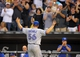 Aug 16, 2014; Chicago, IL, USA; Toronto Blue Jays starting pitcher Mark Buehrle (56) acknowledges the cheers from fans during the sixth inning against the Chicago White Sox at U.S Cellular Field. Mandatory Credit: Dennis Wierzbicki-USA TODAY Sports
