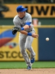 Aug 20, 2014; Milwaukee, WI, USA;  Toronto Blue Jays second baseman Steve Tolleson (18) makes an underhand flip to force out Milwaukee Brewers shortstop Jean Segura (not pictured) at 2nd base in the eighth inning at Miller Park. Mandatory Credit: Benny Sieu-USA TODAY Sports
