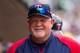 Aug 21, 2014; Minneapolis, MN, USA; Minnesota Twins manager Ron Gardenhire in the dugout in the seventh inning against the Cleveland Indians at Target Field. The Minnesota Twins win 4-1. Mandatory Credit: Brad Rempel-USA TODAY Sports