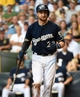 Aug 20, 2014; Milwaukee, WI, USA;  Milwaukee Brewers catcher Jonathan Lucroy (20) during the game against the Toronto Blue Jays at Miller Park. Mandatory Credit: Benny Sieu-USA TODAY Sports