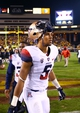 Nov 30, 2013; Tempe, AZ, USA; Arizona Wildcats wide receiver Trey Griffey (5) against the Arizona State Sun Devils in the 87th annual Territorial Cup at Sun Devil Stadium. Mandatory Credit: Mark J. Rebilas-USA TODAY Sports