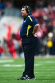 Nov 24, 2012; Columbus, OH, USA; Michigan Wolverines head coach Brady Hoke against the Ohio State Buckeyes at Ohio Stadium. Mandatory Credit: Andrew Weber-USA TODAY Sports