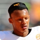 Apr 12, 2014; Knoxville, TN, USA; Tennessee Volunteers quarterback Joshua Dobbs (11) looks on during the spring game at Neyland Stadium. Mandatory Credit: Randy Sartin-USA TODAY Sports