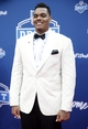 Apr 28, 2016; Chicago, IL, USA; Ronnie Staley (Notre Dame) arrives on the red carpet before the 2016 NFL Draft at Auditorium Theatre. Mandatory Credit: Kamil Krzaczynski-USA TODAY Sports