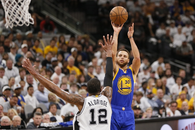 Golden State Warriors at San Antonio Spurs - 5/22/17 NBA Playoffs Pick, Odds, and Prediction