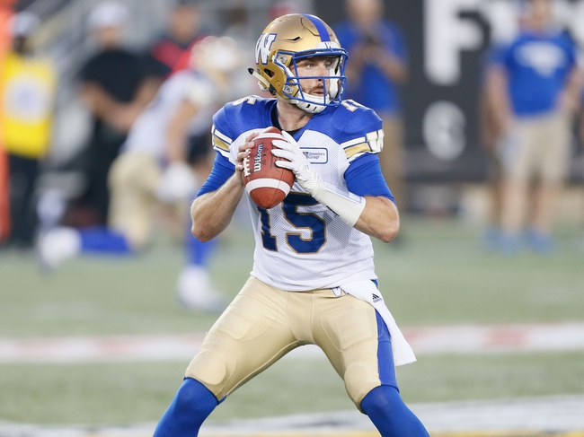Edmonton Eskimos vs. Winnipeg Blue Bombers CFL Pick, Odds, Prediction - 11/12/17