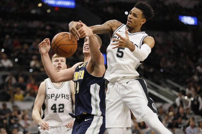 San Antonio Spurs vs. Denver Nuggets - 1/13/18 NBA Pick, Odds, and Prediction