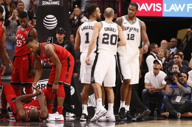Toronto Raptors vs. San Antonio Spurs - 1/19/18 NBA Pick, Odds, and Prediction