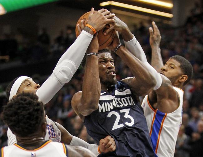 Oklahoma City Thunder vs. Minnesota Timberwolves - 12/1/17 NBA Pick, Odds, and Prediction