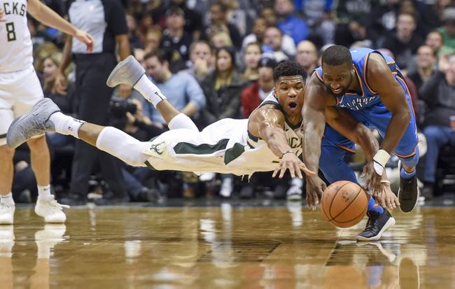 Oklahoma City Thunder vs. Milwaukee Bucks - 12/29/17 NBA Pick, Odds, and Prediction