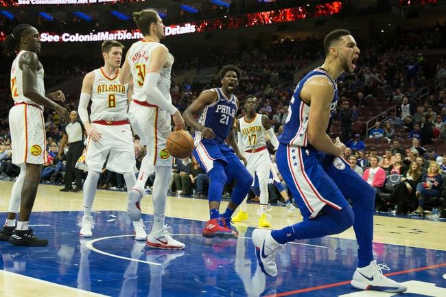 Atlanta Hawks vs. Philadelphia 76ers - 3/30/18 NBA Pick, Odds, and Prediction