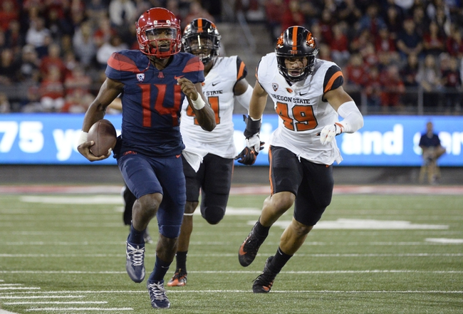 Oregon vs. Arizona - 11/18/17 College Football Pick, Odds, and Prediction