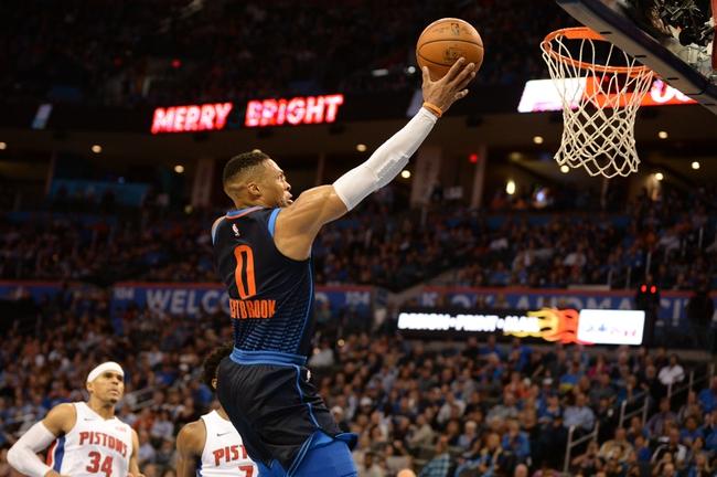 Detroit Pistons vs. Oklahoma City Thunder - 1/27/18 NBA Pick, Odds, and Prediction