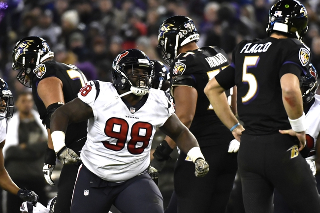 Houston Texans at Baltimore Ravens - 11/17/19 NFL Pick, Odds, and Prediction