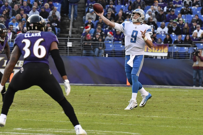 Detroit Lions at Tampa Bay Buccaneers - 12/10/17 NFL Pick, Odds, and Prediction