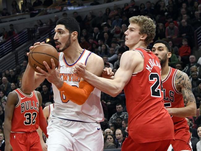 New York Knicks vs. Chicago Bulls - 1/10/18 NBA Pick, Odds, and Prediction