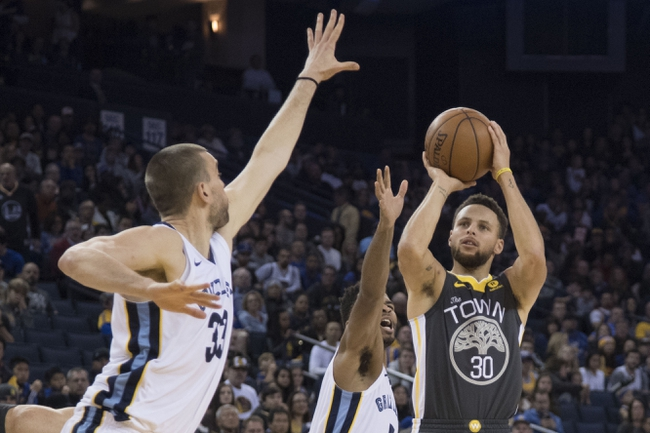 Golden State Warriors vs. Memphis Grizzlies - 11/5/18 NBA Pick, Odds, and Prediction