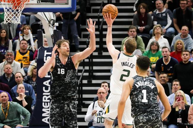 San Antonio Spurs vs. Utah Jazz - 3/23/18 NBA Pick, Odds, and Prediction