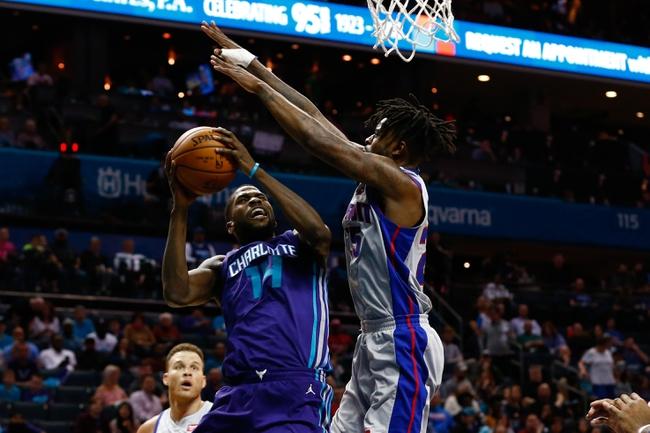 Detroit Pistons vs. Charlotte Hornets - 11/11/18 NBA Pick, Odds, and Prediction