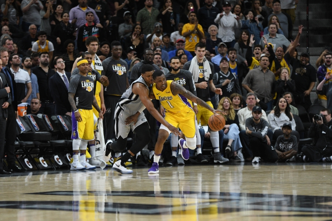 Los Angeles Lakers vs. San Antonio Spurs - 4/4/18 NBA Pick, Odds, and Prediction