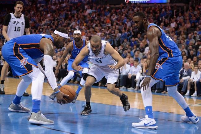 San Antonio Spurs vs. Oklahoma City Thunder - 3/29/18 NBA Pick, Odds, and Prediction